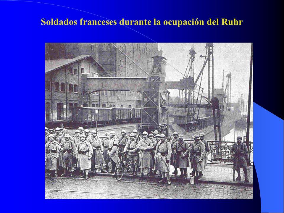 Soldados franceses durante la ocupación del Ruhr