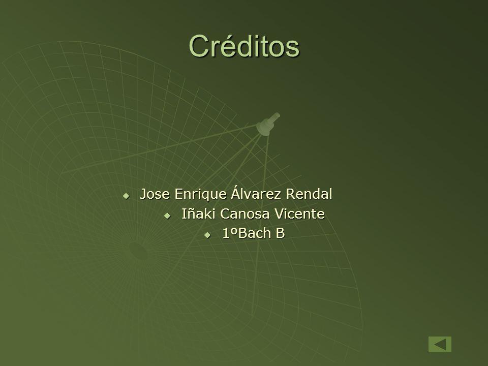 Créditos Jose Enrique Álvarez Rendal Jose Enrique Álvarez Rendal Iñaki Canosa Vicente Iñaki Canosa Vicente 1ºBach B 1ºBach B
