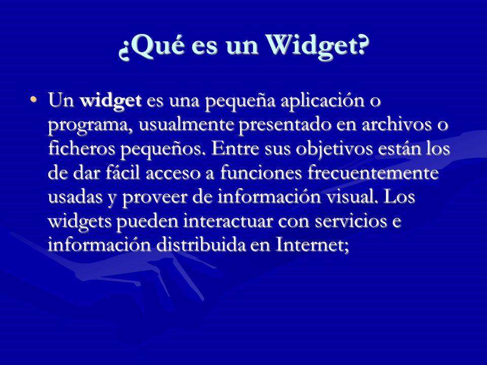 ¿Qué es un Widget.