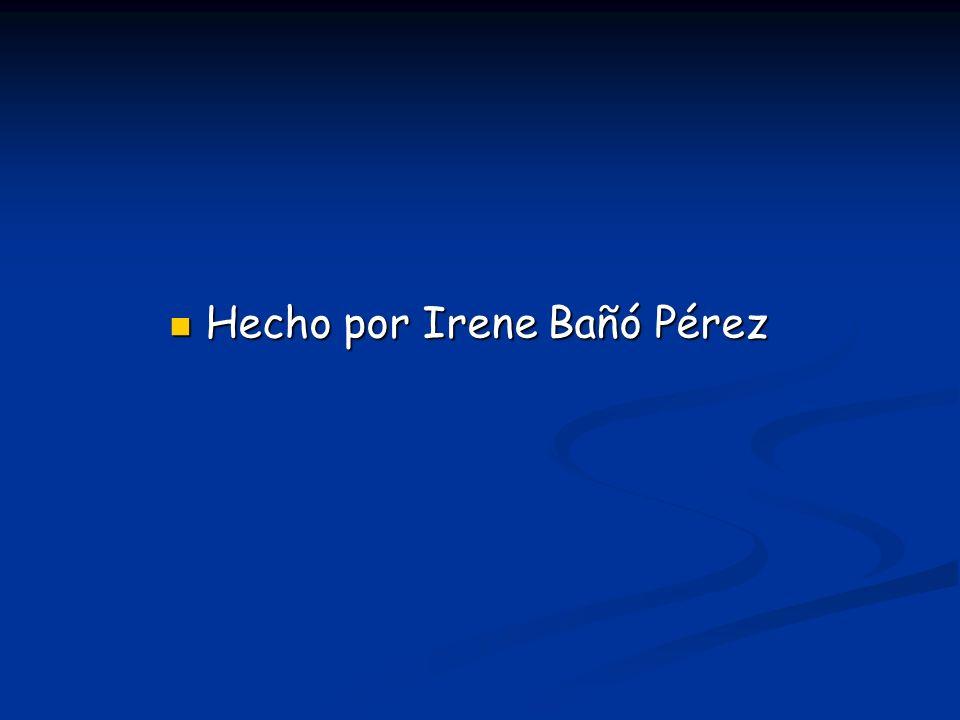 Hecho por Irene Bañó Pérez Hecho por Irene Bañó Pérez
