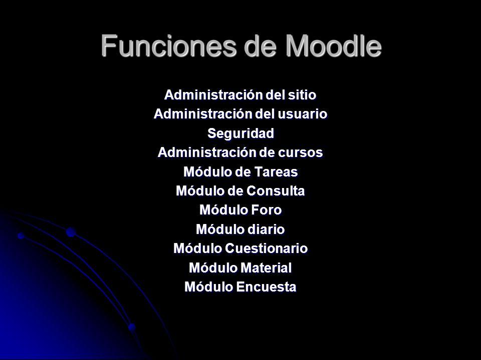 Cursos en Moodle La plataforma moodle esta diseñada para hacer los denominados cursos online, en los cuales te puedes registrar en los que veas conven