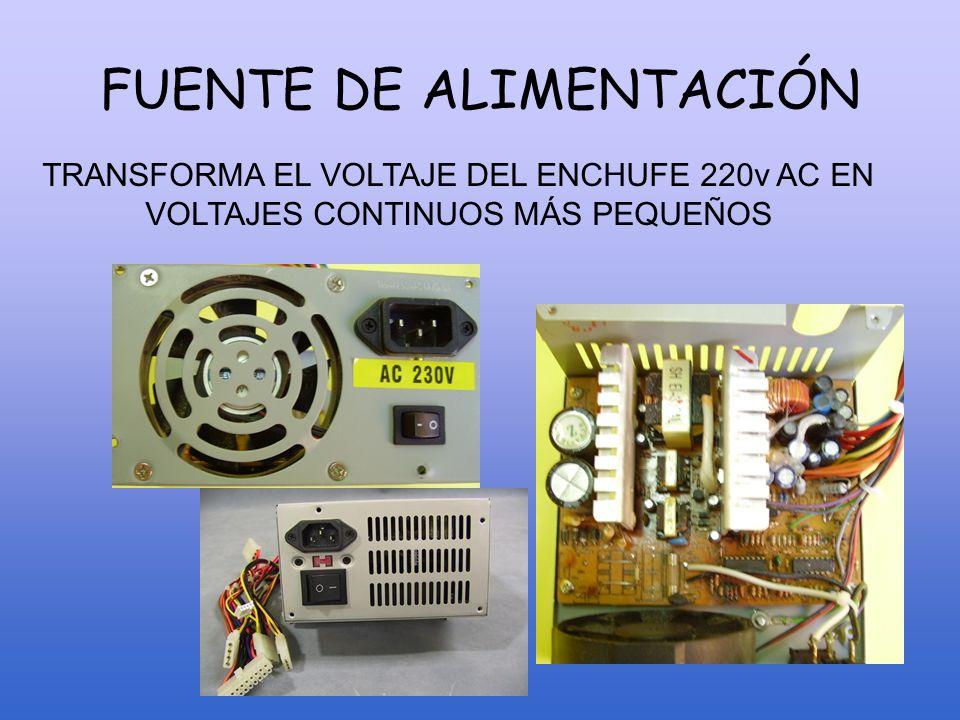 LA PLACA BASE o PLACA MADRE Es el soporte sobre el cual se instalan los diferentes chips y los demás elementos que forman parte del ordenador.