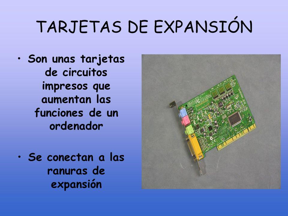 TARJETAS DE EXPANSIÓN Sintonizadora TVRedSonidoTarj. Gráfica