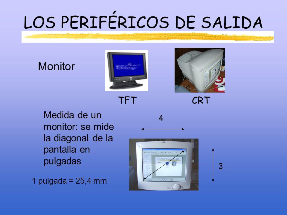 LOS PERIFÉRICOS DE SALIDA Impresoras InyecciónLaserLa resolución de la impresora se mide en ppp.