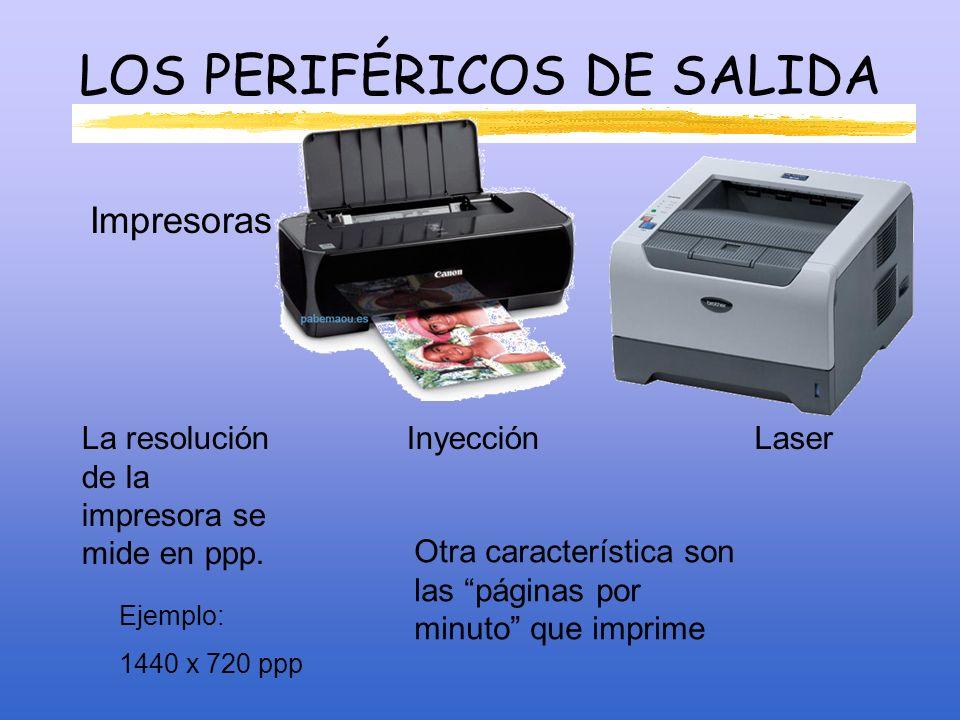 PERIFÉRICOS SALIDA Altavoces: Sistema 2.0 Sistema 2.1 Stereo + bajos.