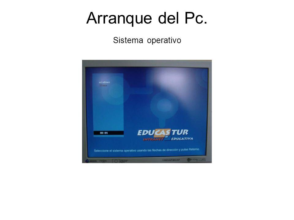 Arranque del Pc. Sistema operativo