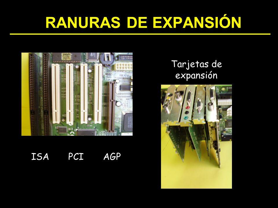 RANURAS DE EXPANSIÓN ISAPCIAGP Tarjetas de expansión