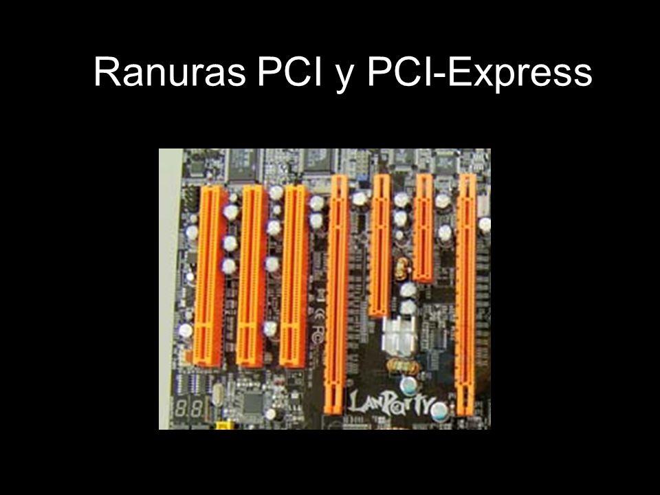 Ranuras PCI y PCI-Express