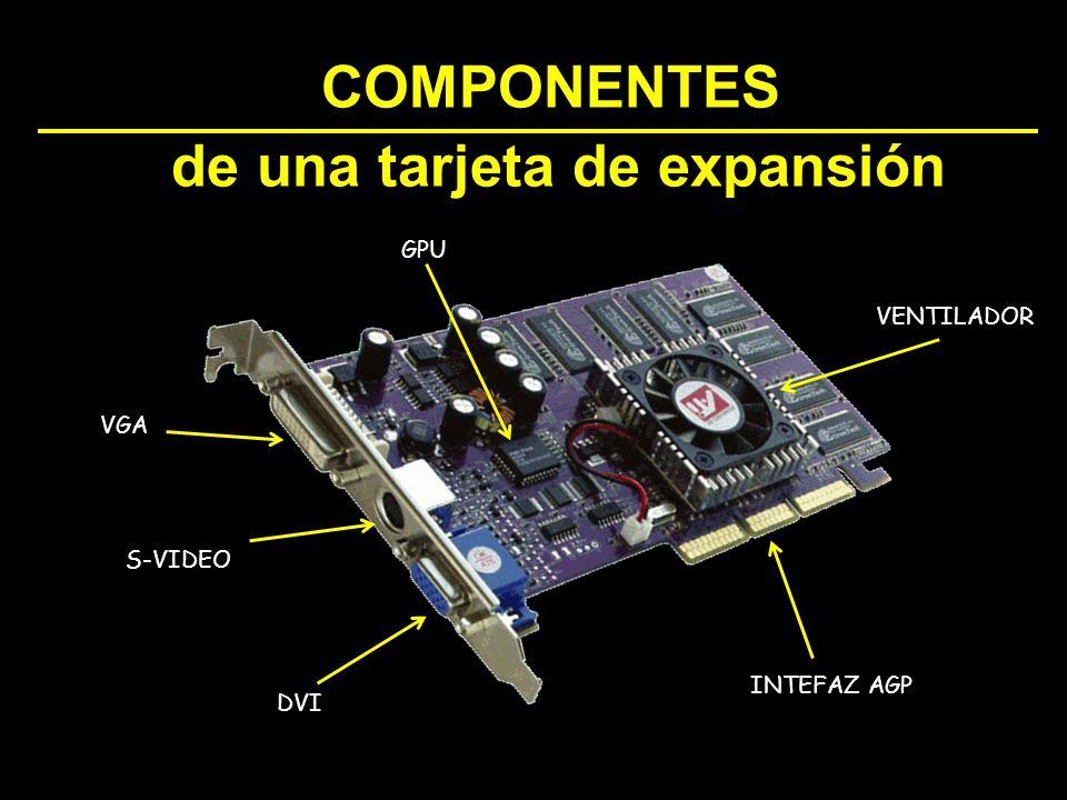 VENTILADOR INTEFAZ AGP GPU VGA S-VIDEO DVI COMPONENTES de una tarjeta de expansión