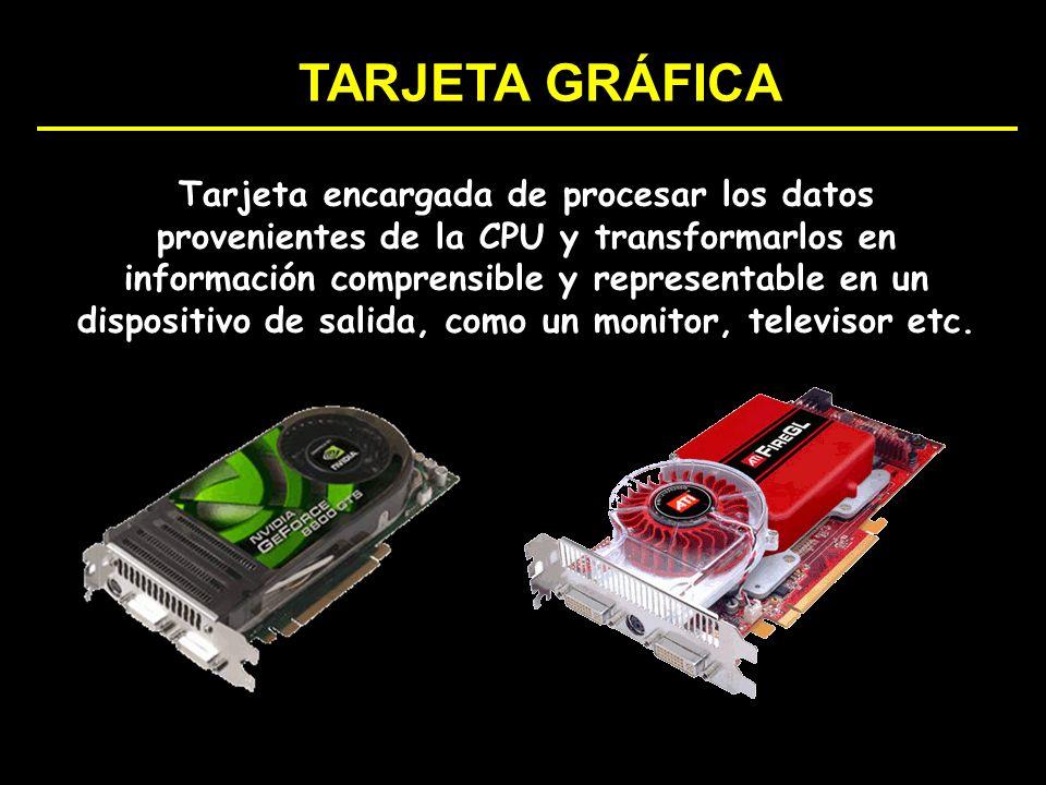 Tarjeta encargada de procesar los datos provenientes de la CPU y transformarlos en información comprensible y representable en un dispositivo de salid