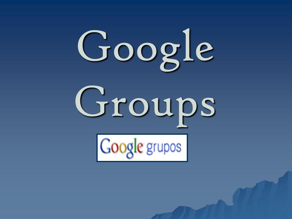 Google groups Es una aplicación de google.Es una aplicación de google.