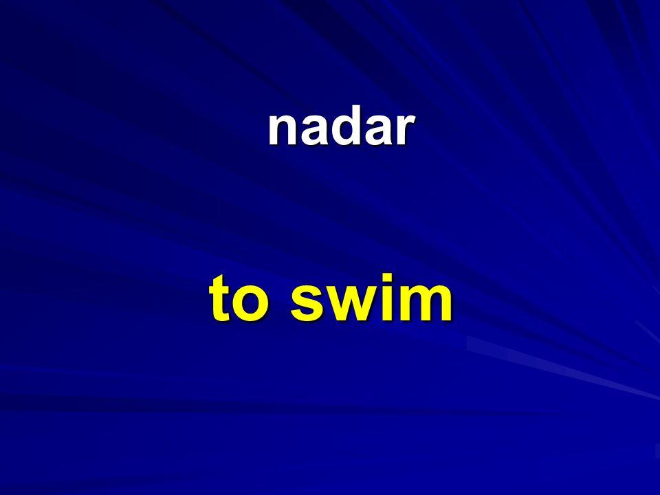 nadar nadar to swim
