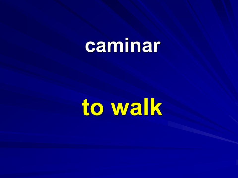 caminar caminar to walk