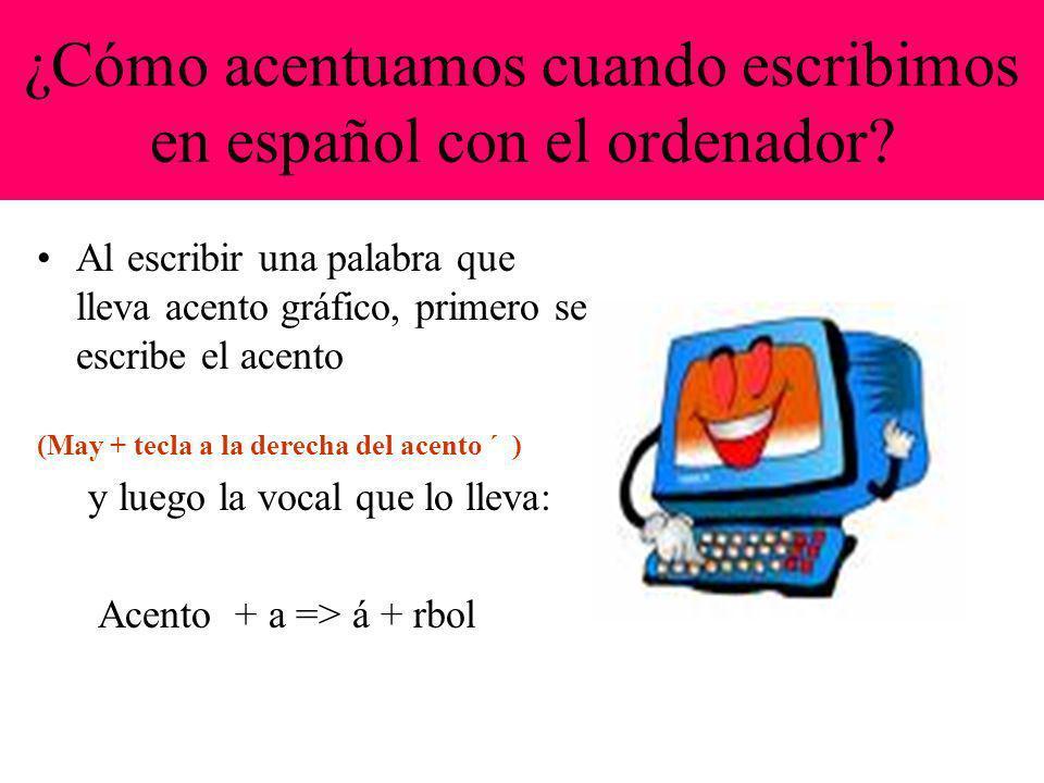 ¿Cómo acentuamos cuando escribimos en español con el ordenador.