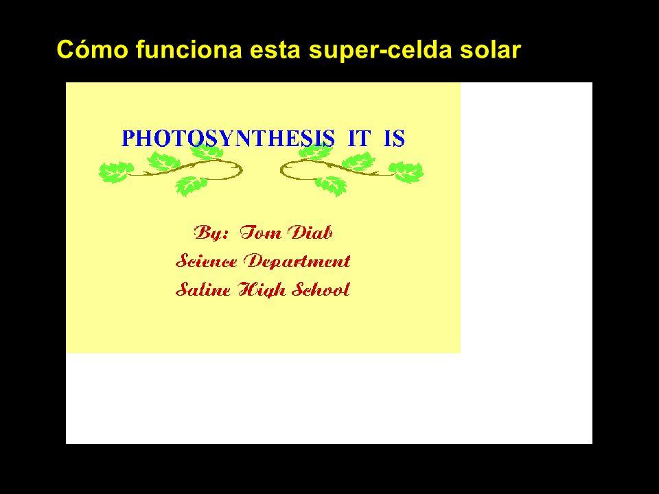 Cómo funciona esta super-celda solar