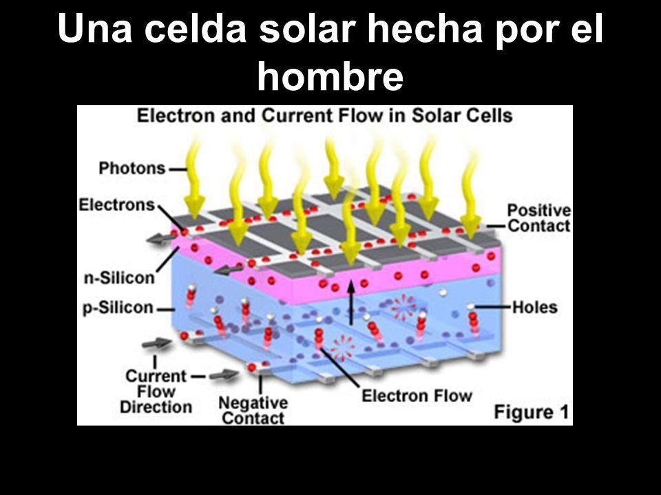 Una celda solar hecha por el hombre