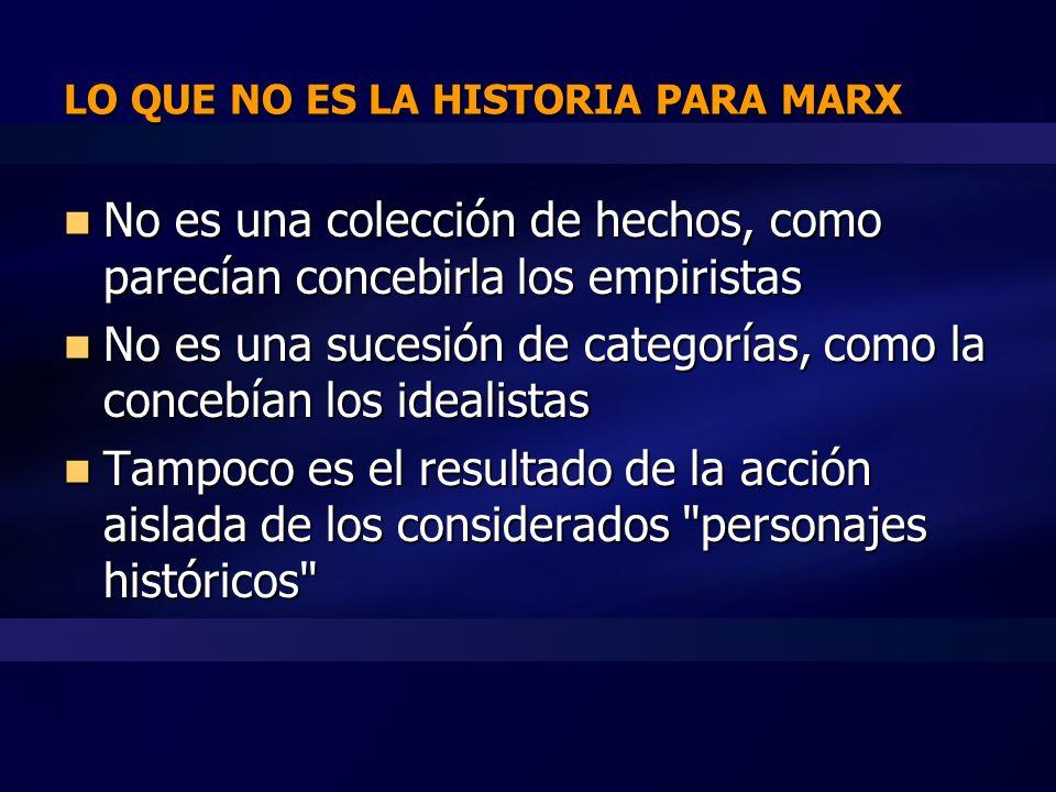 ¿QUE ES LA HISTORIA PARA MARX.