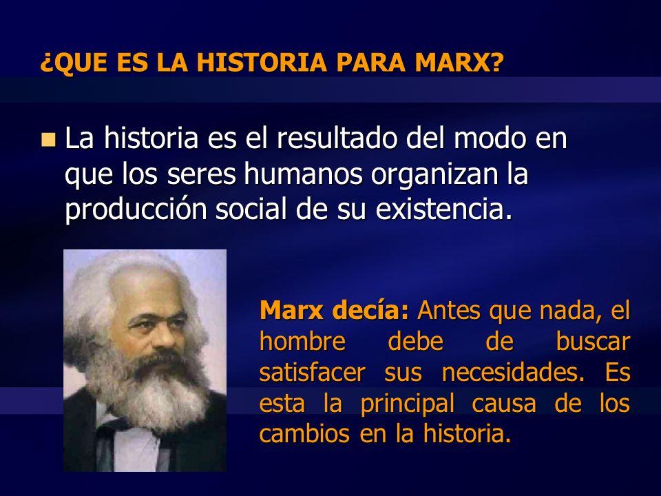 CARACTERÍSTICAS DEL MATERIALISMO HISTÓRICO Surge en el siglo XIX, para explicar desarrollos y cambios en la historia humana a partir de factores PRÁCTICOS.