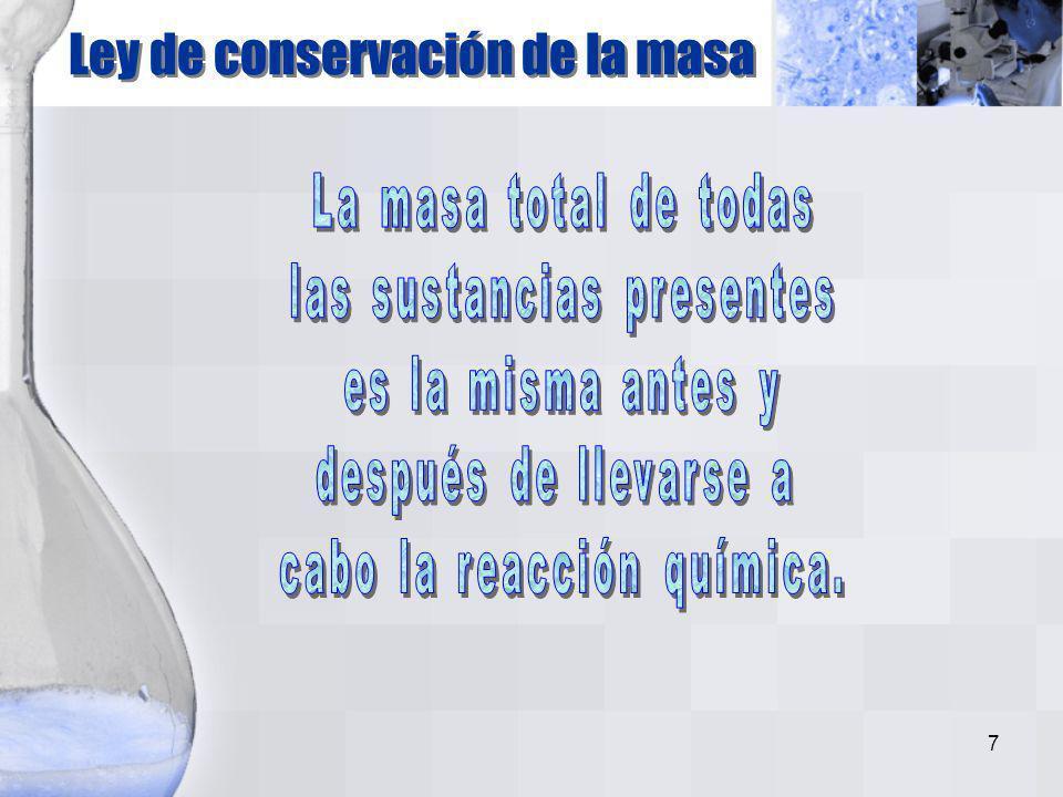 7 Ley de conservación de la masa