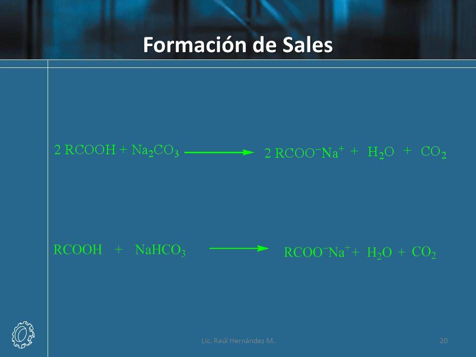 Formación de Sales Lic. Raúl Hernández M.20