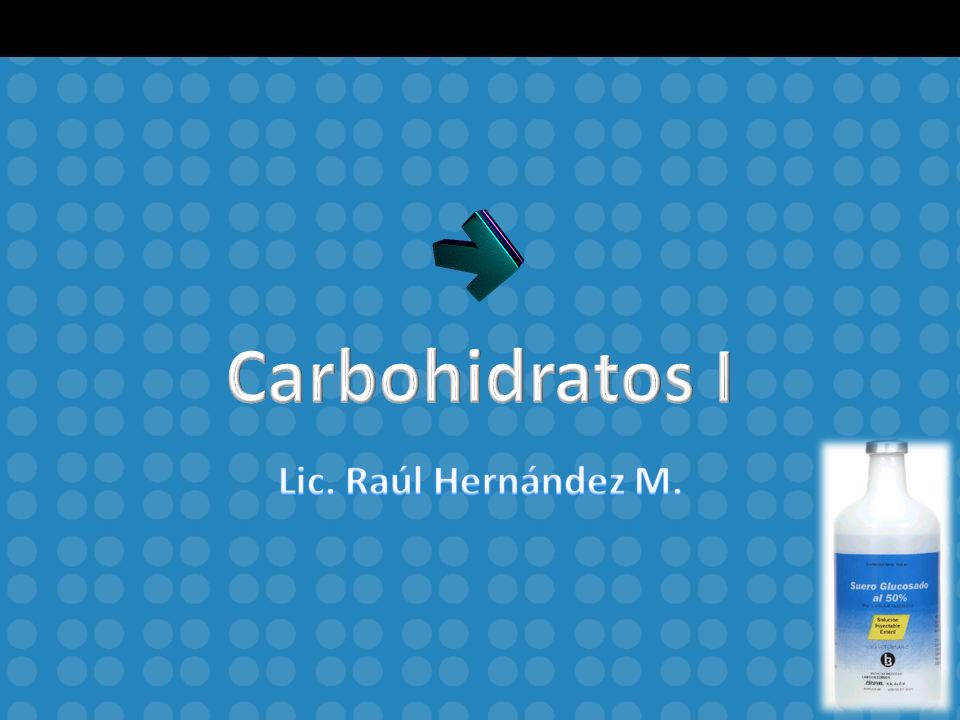Introducción Carbohidrato significa hidrato de carbono.