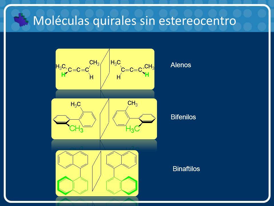 Moléculas quirales sin estereocentro Alenos Bifenilos Binaftilos