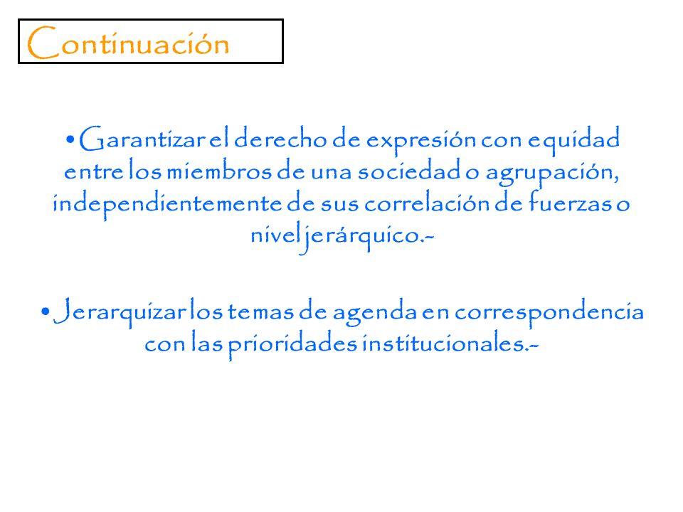 OBJECTIVOS DEL PROCEDIMIENTO PARLAMENTARIO Reglamentar la discusión libre, que permita la aprobación de mociones adecuadas.- Hacer posible la discusió