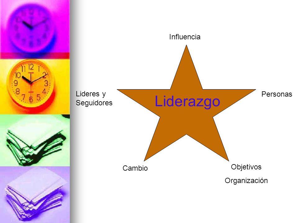 Lideres y Seguidores Influencia Objetivos Organización Personas Cambio Liderazgo
