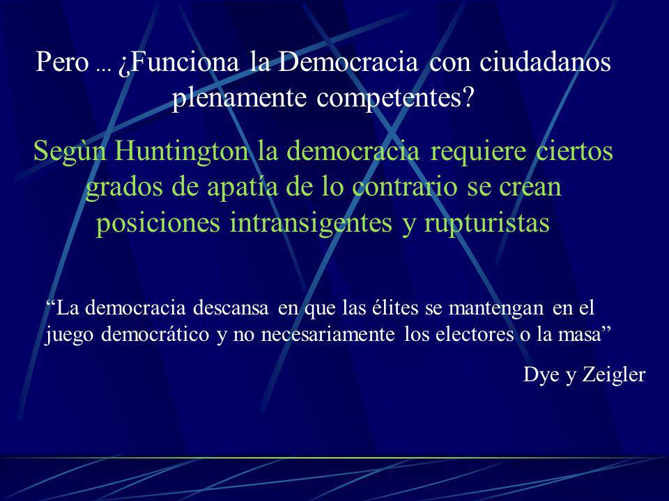 Pero... ¿Funciona la Democracia con ciudadanos plenamente competentes.