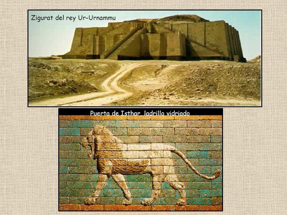 Zigurat del rey Ur-Urnammu Puerta de Isthar, ladrillo vidriado