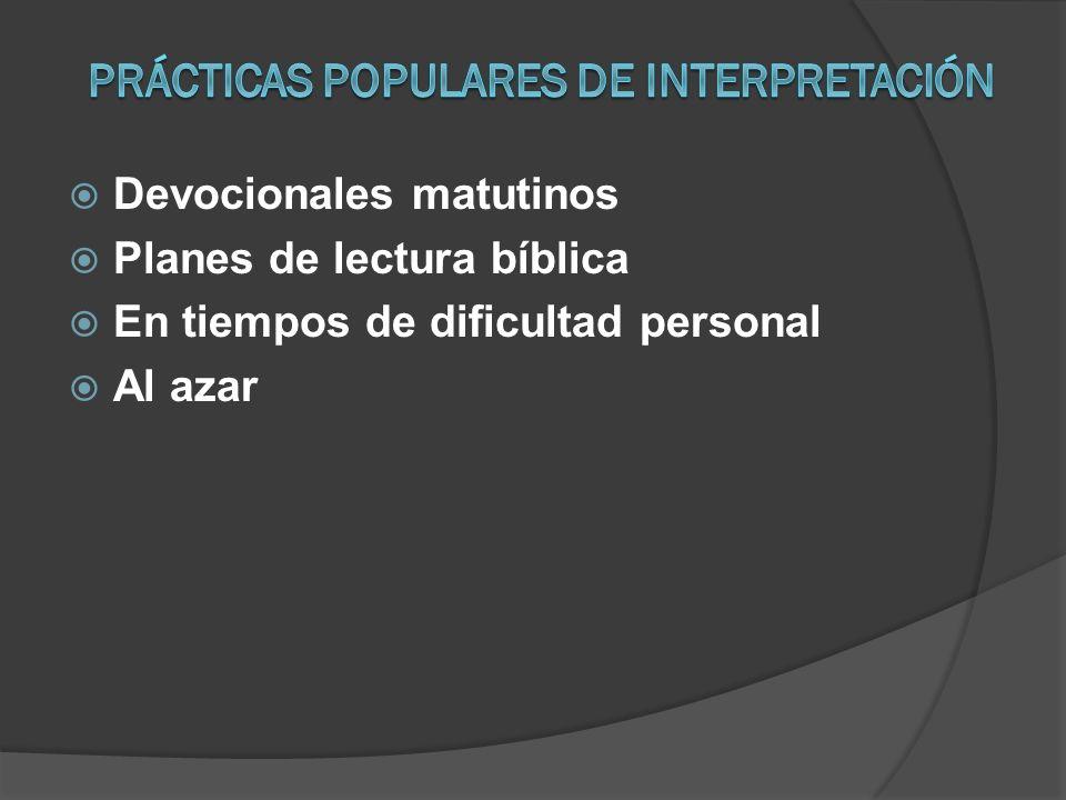 Devocionales matutinos Planes de lectura bíblica En tiempos de dificultad personal Al azar