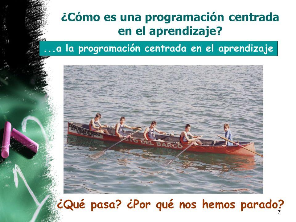 7...a la programación centrada en el aprendizaje ¿Qué pasa.