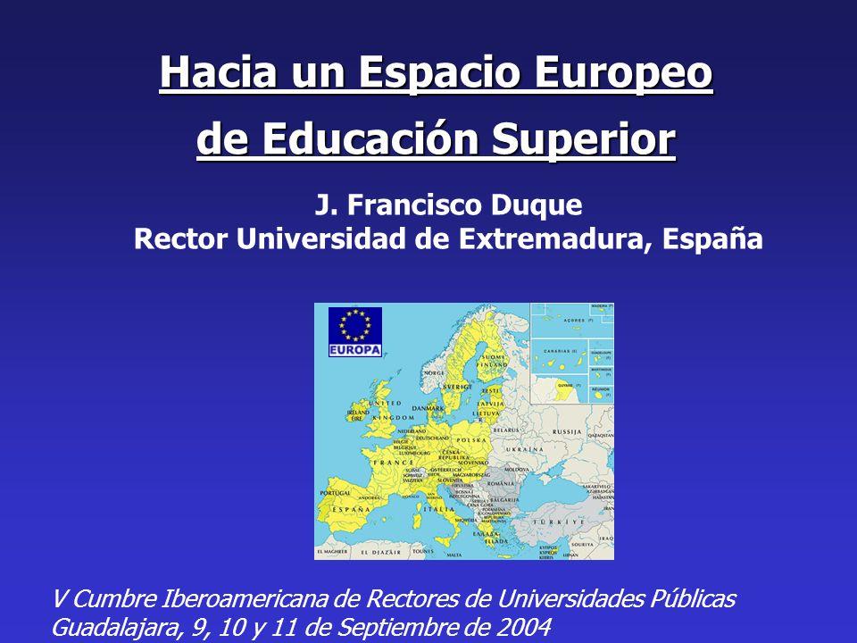 Hacia un Espacio Europeo de Educación Superior J.