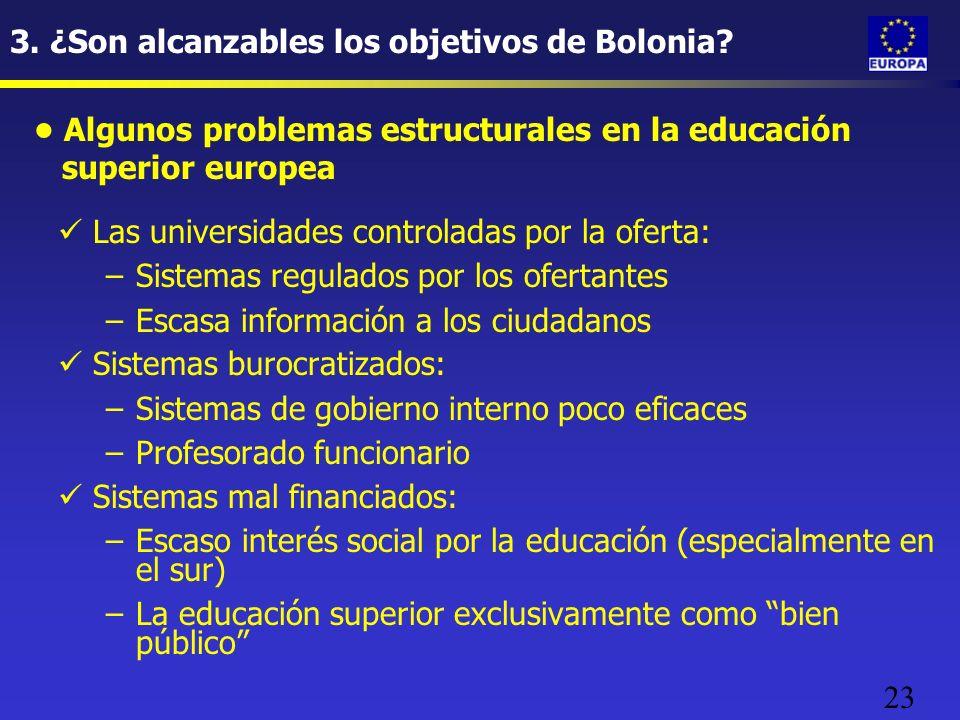 23 3. ¿Son alcanzables los objetivos de Bolonia.