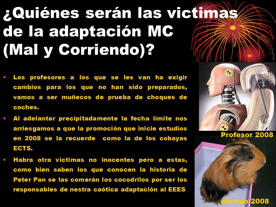 ¿Quiénes serán las victimas de la adaptación MC (Mal y Corriendo).