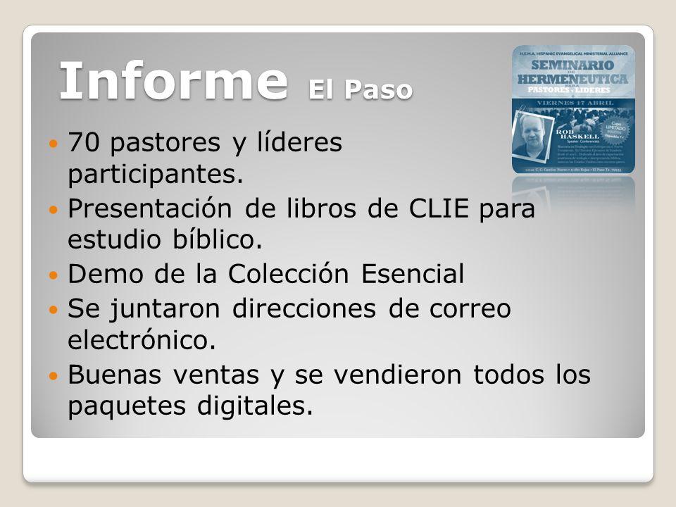 70 pastores y líderes participantes. Presentación de libros de CLIE para estudio bíblico.
