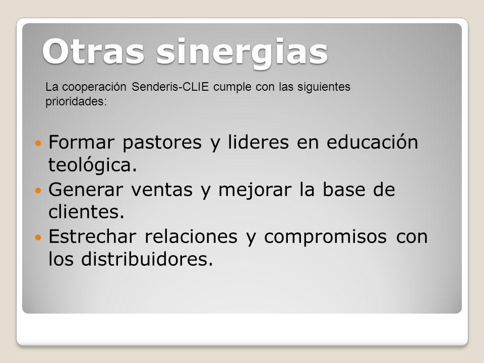 Otras sinergias Formar pastores y lideres en educación teológica.