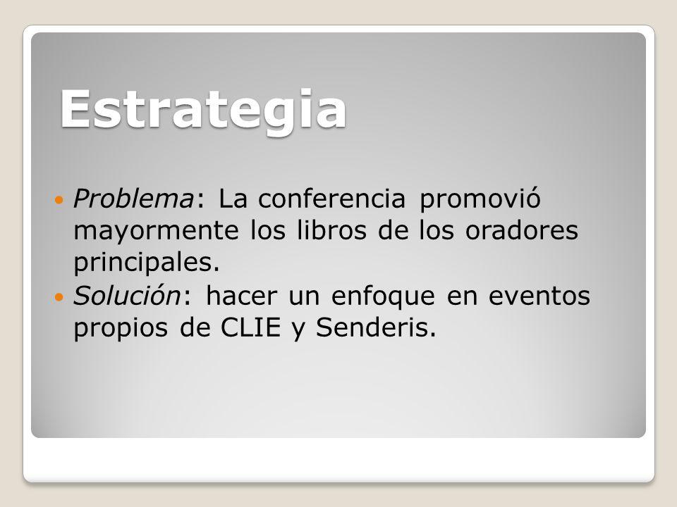 Problema: La conferencia promovió mayormente los libros de los oradores principales.