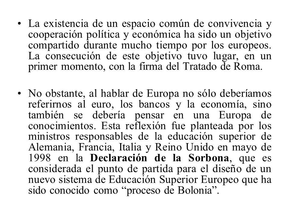 La existencia de un espacio común de convivencia y cooperación política y económica ha sido un objetivo compartido durante mucho tiempo por los europeos.