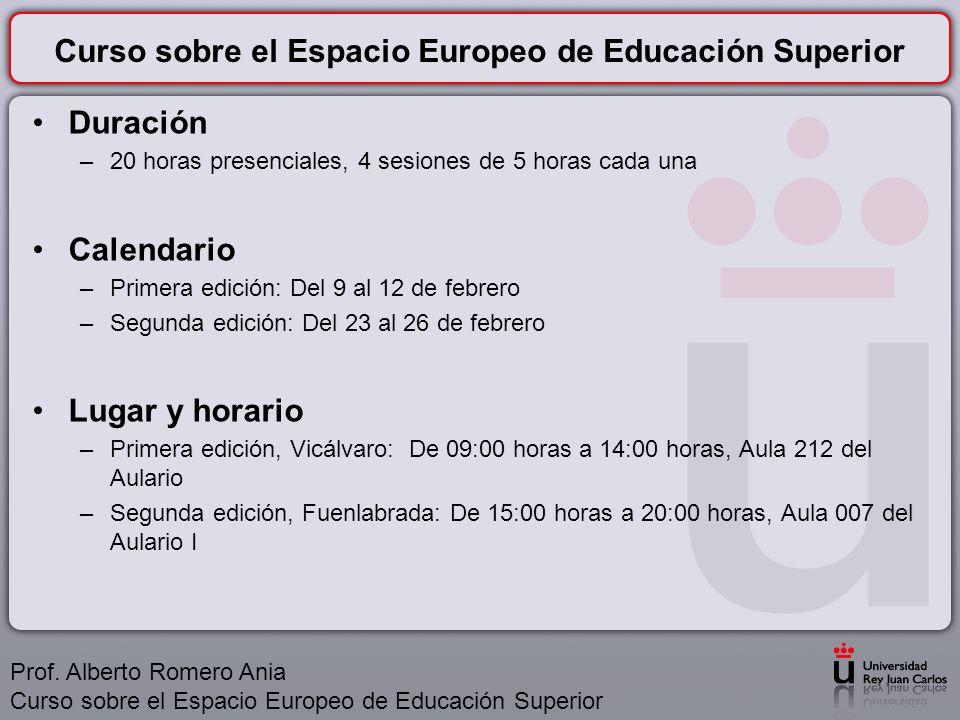 Curso sobre el Espacio Europeo de Educación Superior ¿Por qué hacer un curso sobre el Espacio Europeo de Educación Superior.