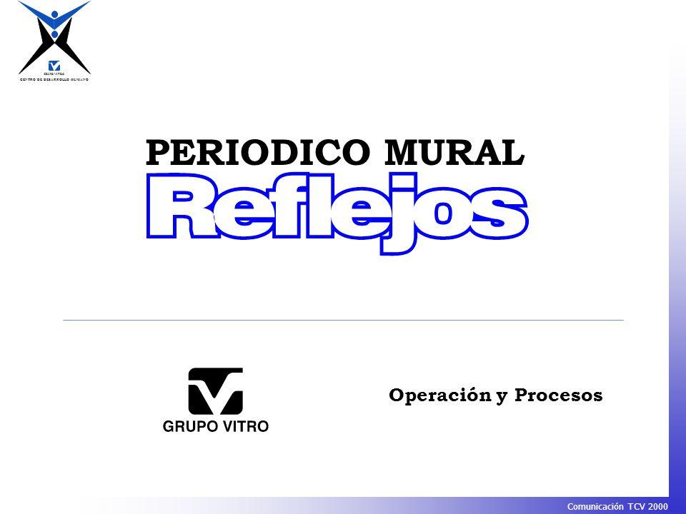 CENTRO DE DESARROLLO HUMANO GRUPO VITRO Comunicación TCV 2000 PERIODICO MURAL Operación y Procesos