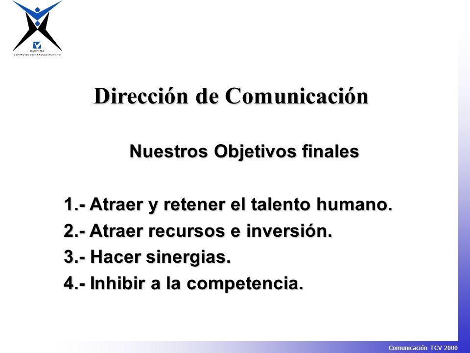 CENTRO DE DESARROLLO HUMANO GRUPO VITRO Comunicación TCV 2000 B.