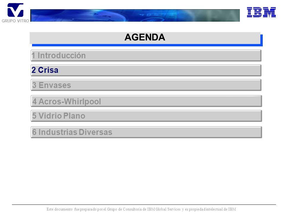 GRUPO VITRO Este documento fue preparado por el Grupo de Consultoría de IBM Global Services y es propiedad intelectual de IBM Los objetivos estrategic