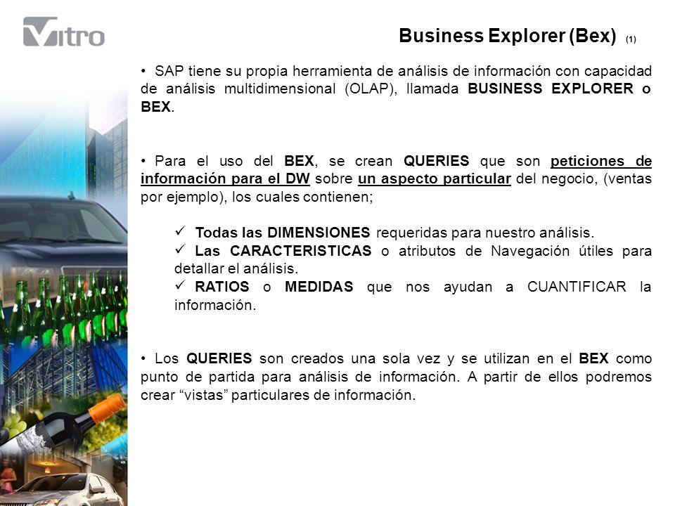 Barra de Herramientas (Bex) (8) Existen ocasiones en las que hay que explicar o compartir el comportamiento de la información dentro del Query.