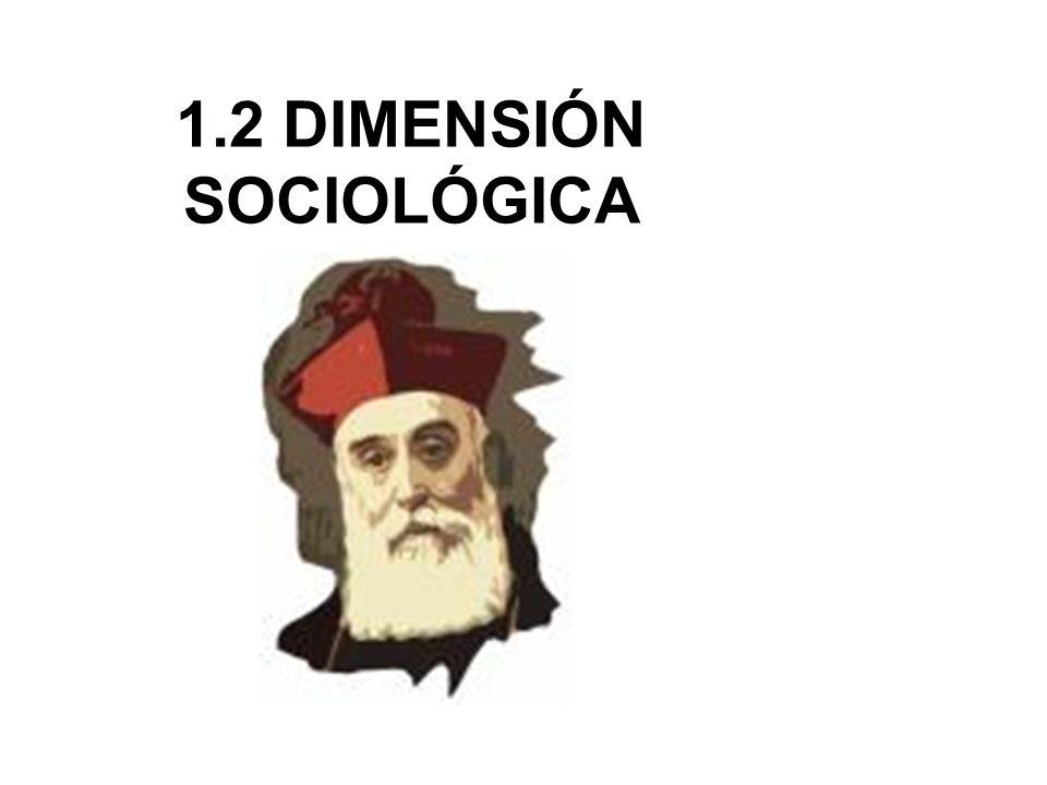 1.2 DIMENSIÓN SOCIOLÓGICA