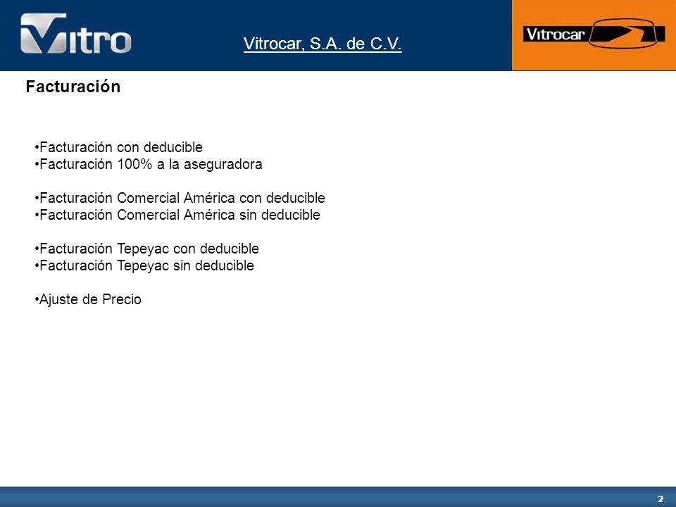 Vitrocar, S.A.de C.V. 13 A continuación se mostraran los datos del deducible.
