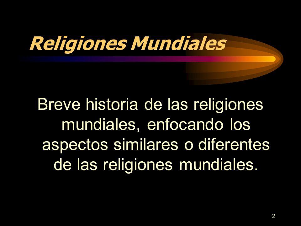3 El Mundo de las Religiones Para comprender el mundo de las religiones, debemos conocer la diferencia entre religión, iglesia y secta.