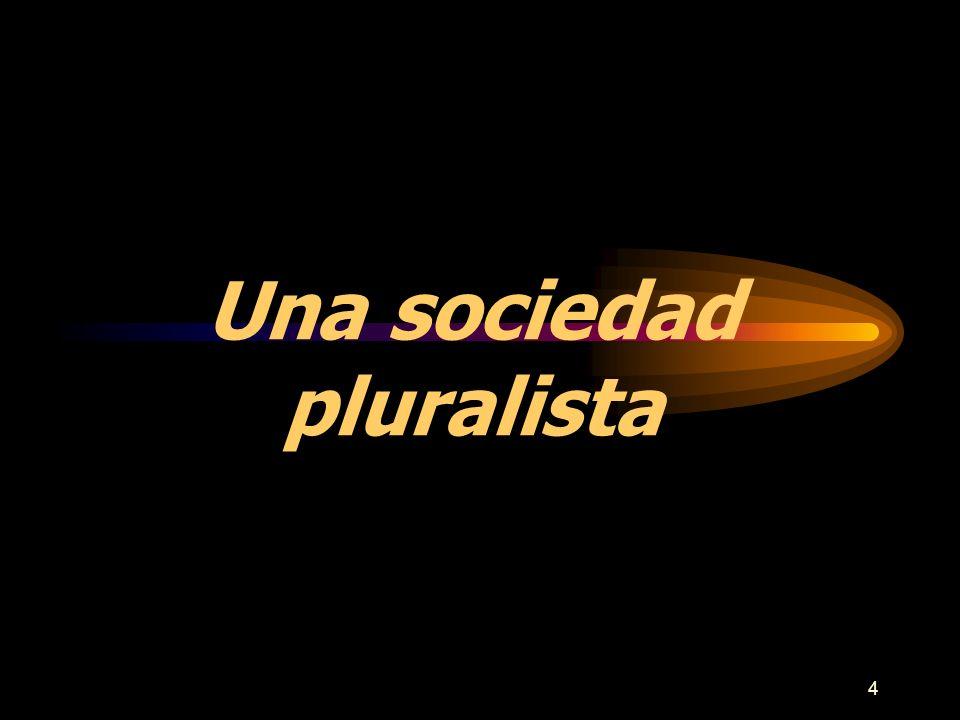 5 Una Sociedad Pluralista La realidad del pluralismo religioso está generando un nuevo interés en la comprensión de los diferentes pueblos y creencias.