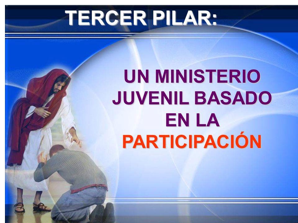 TERCER PILAR: UN MINISTERIO JUVENIL BASADO EN LA PARTICIPACIÓN