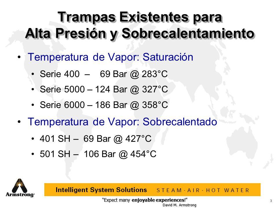 Expect many enjoyable experiences! David M. Armstrong Expect many enjoyable experiences! David M. Armstrong 3 Trampas Existentes para Alta Presión y S